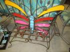 METAL BUTTERFLY CHILDRENS BENCH