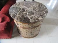 MARBLE TOP END TABLE - LR