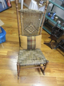 VINTAGE WOODEN FRAMED ROCKING CHAIR - R1
