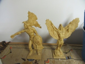 TWO NATIVE AMERICAN WARRIOR FIGURINES - R1