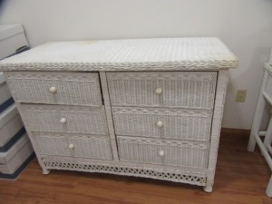 WICKER 6 DRAWER DRESSER - R2
