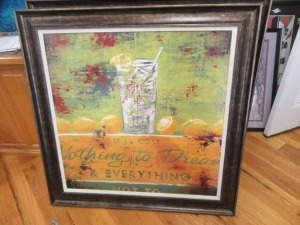 IT COST NOTHING TO DREAM FRAMED ART ON BOARD - R1