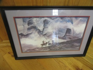 NATIVE AMERICAN FRAMED PRINT - R1