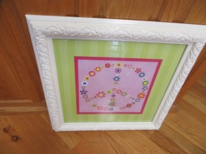PEACE SIGN  FRAMED PICTURE - R1