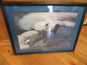 POLAR BEAR PRINT IN FRAME - R1