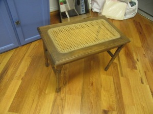 WOVEN TOP WOOD FRAMED BENCH - R1
