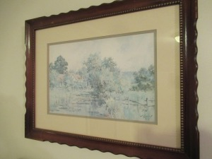 THE OLD HOMESTEAD PRINT IN FRAME - KT