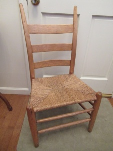 WOVEN BOTTOM LADDER BACK CHAIR - FY