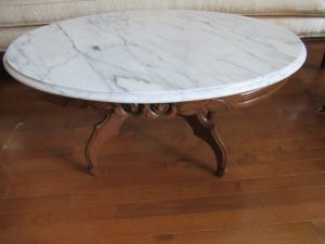MARBLE TOP COFFEE TABLE - FLR