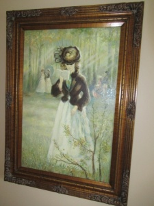FRAMED PAINTING ON CANVAS - FLR