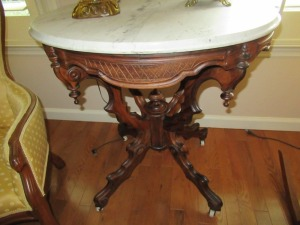 MARBLE TOP SIDE TABLE - FLR