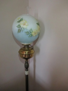 FLOOR LAMP WITH GLASS GLOBE - FLR