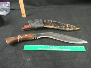 HANDMADE KNIFE WITH SHEATH  AND 2 SMALL KNIVES