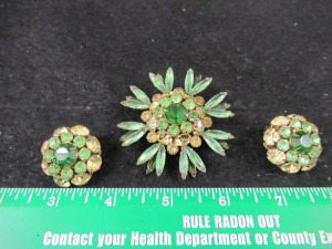 JUDY LEE BROOCH AND EARRING