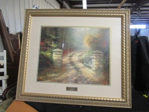 THOMAS KINKADE FRAMED PRINT  THE AUTUMN GATE