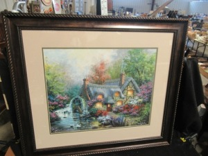 COTTAGE PRINT IN WOOD FRAME