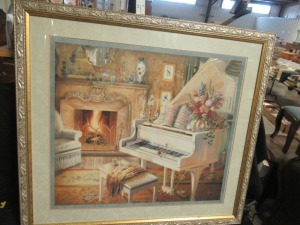 MUSIC ROOM PRINT IN GOLD FRAME