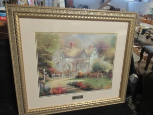THOMAS KINKADE PRINT HOME IS WERE THE HEART IS II