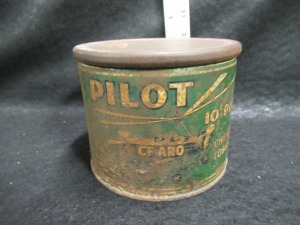 PILOT TIN TOBACCO CAN