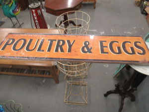 POULTRY AND EGG SIGN