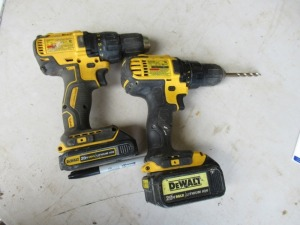 2 DEWALT RECHARGABLE DRILLS