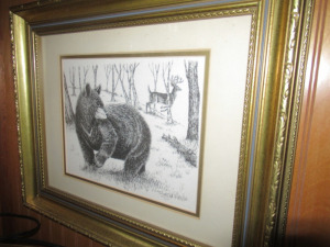 BEAR SKETCH IN FRAME - US