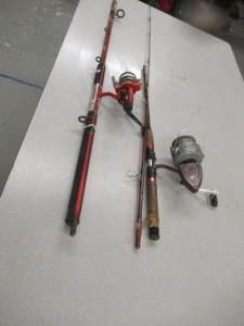 2 RODS AND REELS