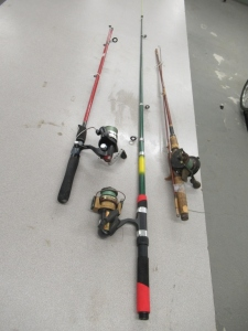 3 RODS AND REELS
