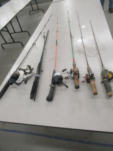 6 RODS AND REELS