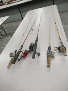 5 RODS AND REELS