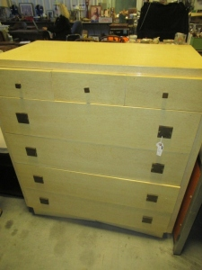 AMERICAN OF MARTINSVILLE WOOD CHEST OF DRAWERS