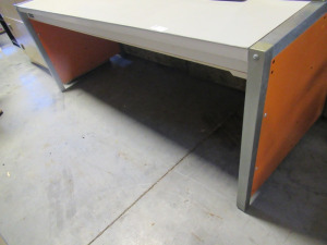 METAL FRAMED DESK WITH METAL TOP