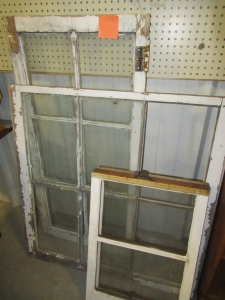 4 WOOD FRAMED WINDOWS