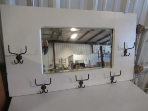 WALL HANGING COAT RACK WITH MIRROR