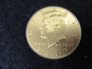 KENNEDY GOLD PLATED HALF DOLLAR