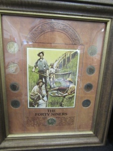 THE FORTY NINERS COINS AND FRAME