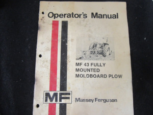 OPERATORS MANUAL MASSEY FERGUSON