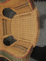 WICKER CHAIR WITH HOMEMADE CUSHION - 3