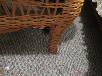 WICKER CHAIR WITH HOMEMADE CUSHION - 4