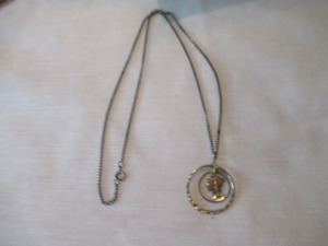 MERCURY DIME STYLE CAMEO NECKLACE