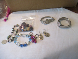 LADIES WATCHES, BRACELETS, AND EARRINGS
