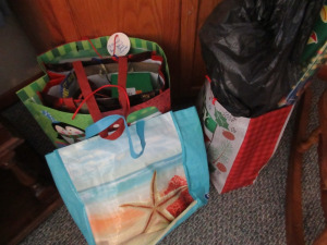 CHRISTMAS BAGS AND WRAPPING PAPER