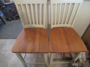 2 CREME COLORED CHAIRS
