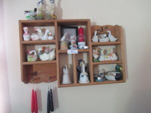WALL SHELF WITH CONTENTS