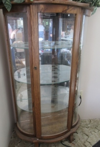 LIGHTED CURIO CABINET-HLR