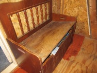 WOODEN TOY CHEST- USL - 4