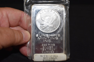 SUNSHINE MINTING 10 TROY OUNCE SILVER BAR