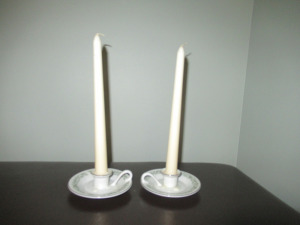 MIKASA FINE CHINA CANDLE STICK HOLDERS