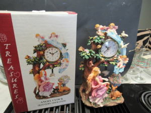 TREASURES ANGEL CLOCK