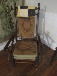 ANTIQUE SPRING ROCKER  --LR